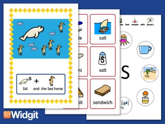 """Sound Stories """"S"""" and """"Z"""" - Pack with Widgit Symbols"""