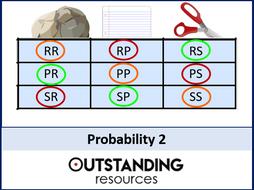 Probability 2 - Theoretical Probability 1 (+ worksheet)