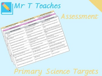 Primary Science Targets Assessments