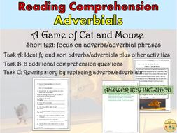 Reading Comprehension Passage Adverbs and Adverbials