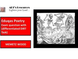 Eduqas Poetry (Mametz Wood) question with (differentiated DIRT Task)