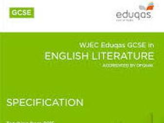 WJEC Eduqas GCSE Poetry Anthology