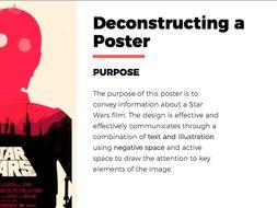 deconstructing analysing poster design matt needle powerpoint