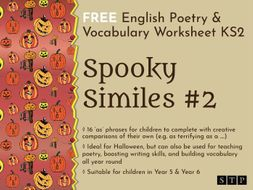 english worksheet poetry similes halloween ks2 02 by stpbooks teaching resources. Black Bedroom Furniture Sets. Home Design Ideas