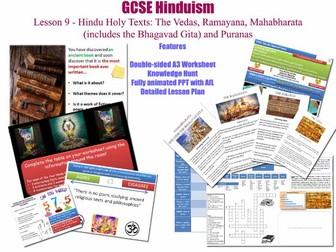 GCSE Hinduism - Lesson 9/20 [Hindu Sacred Texts, Scriptures, Books: Vedas, Mahabharata, Puranas...]