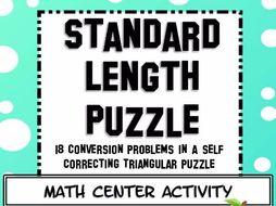Measurement Standard Length Conversions Math Center