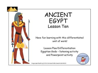 AncientEgypt:Gods-ListeningActivity+PowerpointActivity