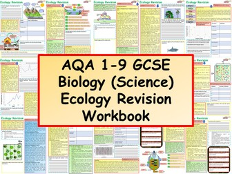 AQA 1-9 GCSE Biology (Science) Ecology Revision Workbook
