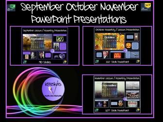 September, October, November Assemblies