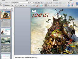 The Tempest SoW for KS3 (suits low ability or SEN)