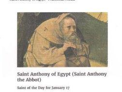 Antony of Egypt January 17th
