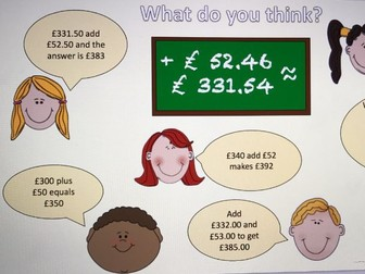 Estimating with money