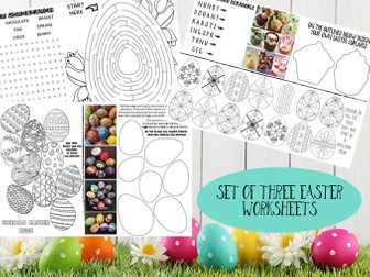 Easter Activity sheets - set of 3