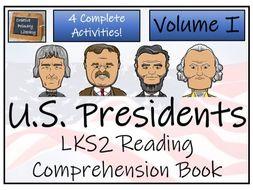 LKS2 - American Presidents Reading Comprehension Book; Volume I