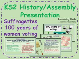 Suffragettes - 100 years of women voting (Britain) - KS2 - History