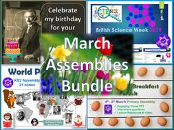 March Assemblies Bundle