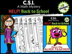 CSI Math Mystery - Help! Back to School