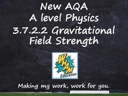 AQA A Level Physics 3.7.2.2 Gravitational field strength