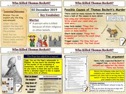 Thomas Beckett: Who is Responsible for his Death?
