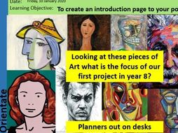 Art and Design KS3 Portraiture Scheme of Work