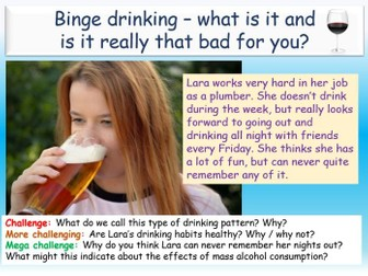 Alcohol - Binge Drinking