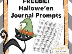 Hallowe'en Journal Prompts FREEBIE!