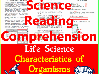 Life Science Reading Comprehension Passages & Questions