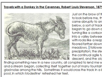GCSE English Language Paper 2 - 19th Century Non-Fiction Unseen Analysis - Travels with a Donkey