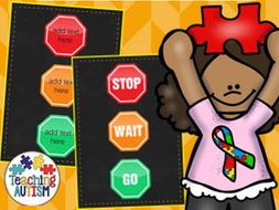 Autism Traffic Light Behaviour Behavior System Editable