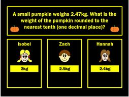 Rounding Decimals Powerpoint Game by Arithmetickx