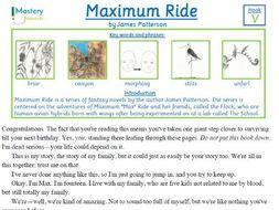 Maximum Ride by James Patterson Comprehension KS2