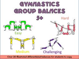Gymnastics group balances 5+