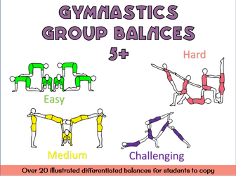 Gymnastics group balances 5+