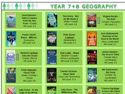Geography Year 7 + 8 curriculum relevant fiction reading list