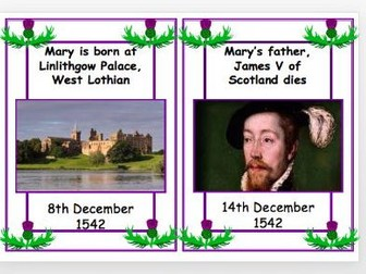 Mary, Queen of Scots Timeline Cards