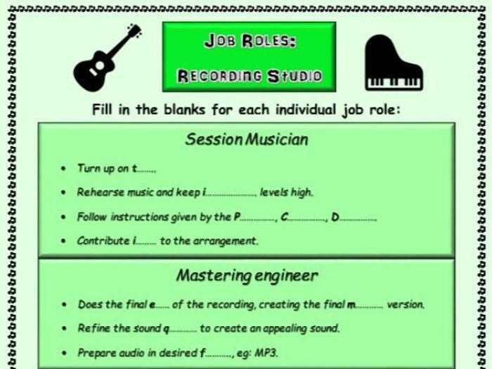 music teacher job descriptions
