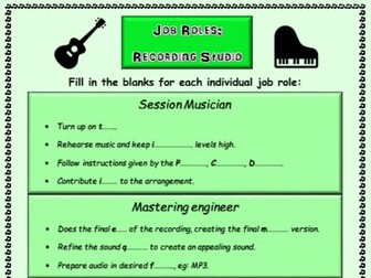 Recording Studio Job Roles in the Music Industry