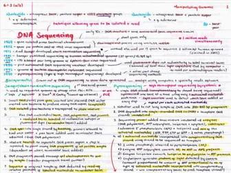 OCR A Level Biology Manipulating Genomes Revision Poster