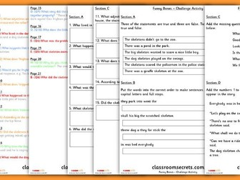 Year 2 Funny Bones Whole Class Guided Reading Comprehension