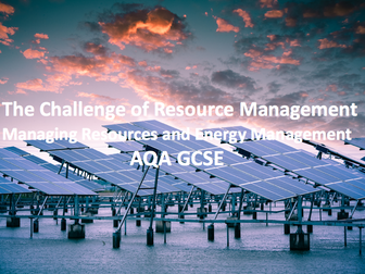 The Challenge of Resource Management - Resource and Energy Management