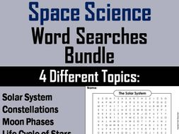 Space Science Word Search Bundle