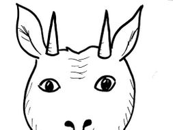 Goat Mask Template By Heather Mcdonald