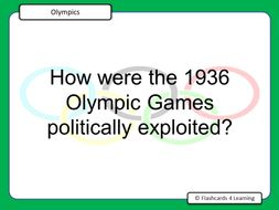A Level PE (2016): OCR - The Modern Olympic Games - Question & Answer Cards