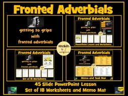 Fronted Adverbials Bundle