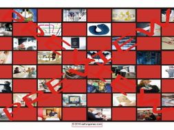 Travel Modes and Things Checker Board Game