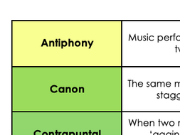 Musical elements card sort revision exercise (GCSE/ Advanced KS3)