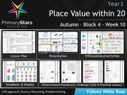 YEAR 1 - Place value - White Rose - WEEK 10 - Block 4 - Autumn - Differentiated Planning & Resources