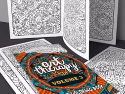Adult Coloring Book | Art Therapy Volume 3 | 20 coloring pages | Printable PDF Coloring Book