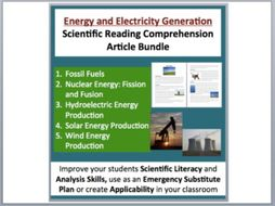 Energy and Electricity Generation - Science Reading Article Bundle
