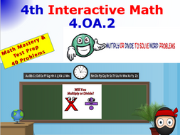 4.OA.2 THINK ON YOUR FEET MATH! Interactive Test Prep Game—Multiply or Divide